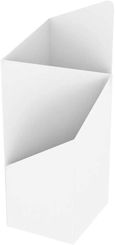Yxsd Umbrella Stand Iron Art Lobby Umbrella Cylinder, Household Floor-Standing Umbrella Rack - White,20×25×60cm