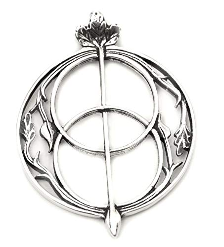 WINDALF Britischer Schmuck-Anhänger AVALON Ø 3.5 cm Glücks Amulett Chalice Wells Vintage Kelten Schmuck 925 Sterlingsilber