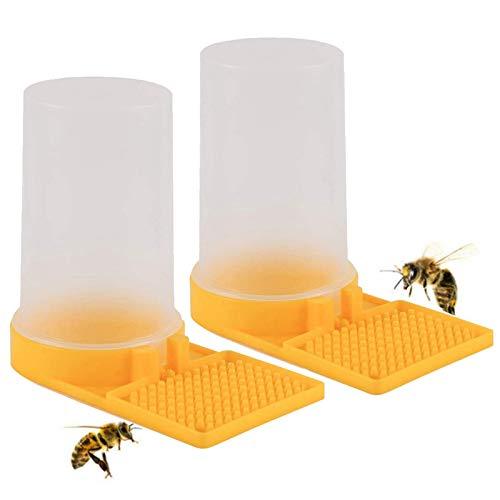 Alimentador de agua para abejas, 2pcs alimentador de agua para apicultura dispensador de agua de plástico para abejas alimentador de entrada para colmenas accesorios para equipos de apicultor