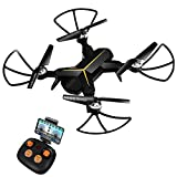 KOOME Drone Camera, 720P HD Live Video WiFi Foldable Quadcopter Headless Mode Altitude Hold One Key Return Function, Camera Drones Beginners Kids