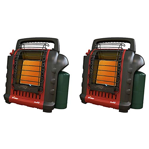 Mr. Heater MH-F232000 Portable Buddy 9,000 BTU Propane Gas Radiant Heater with Piezo Igniter for Outdoor Camping, Job Site, Hunting, and Tailgates, Red (2 Pack)