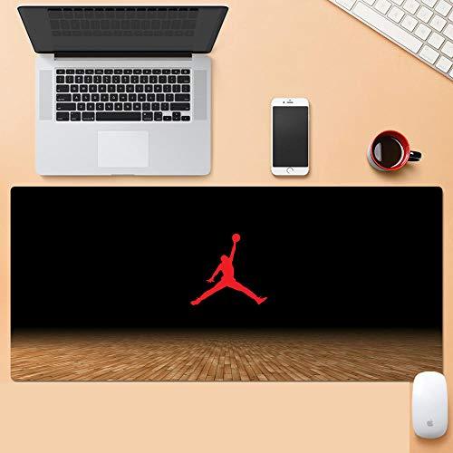 NBA Alfombrilla Raton Grandes World Map Mouse Pad XXL 900x400x3 mm,Impermeable con Base de Goma Antideslizante,Special-Textured Superficie para Gamers Ordenador, PC y Laptop-M_400x900