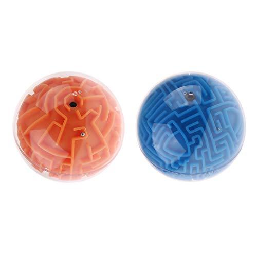 F Fityle 2pcs Ball Puzzles Rompecabezas Juguete Juego de Inteligencia Regalo
