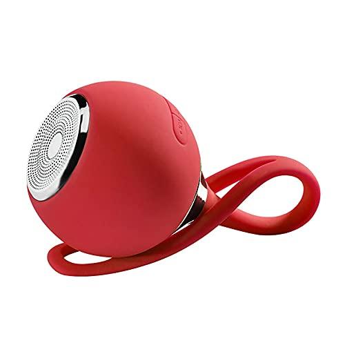 屋外ミニスモールブルートゥーススピーカー、携帯用無線スピーカー、ステレオサブウーファー、ポータブルデザイン、ハイキング、パーティー、ビーチキャンプに適しています。,赤
