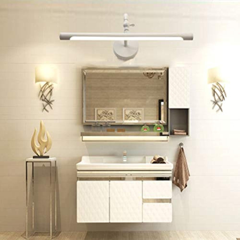 THOR-BEI Spiegelfrontleuchte Kreative LED Spiegelschrankleuchte Waschraum Schminktisch Wei Schwarz Spiegel Scheinwerfer -744Spiegellampen (Farbe   Wei, gre   8W45CM)