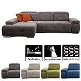 CAVADORE Schlafsofa Mistrel mit Longchair XL links / Große Eck-Couch im modernen...