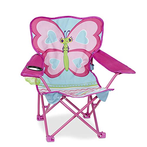 Melissa & Doug Cutie Pie Butterfly Camp Chair, Pink (96423)