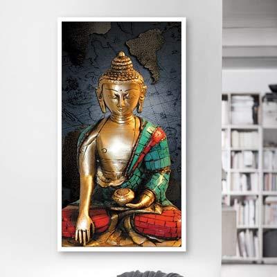 AQgyuh Puzzle 1000 Teile Buddha-Statue im grünen Gewand Puzzle 1000 Teile er Erwachsene Pädagogisches intellektuelles Dekomprimieren50x75cm(20x30inch)