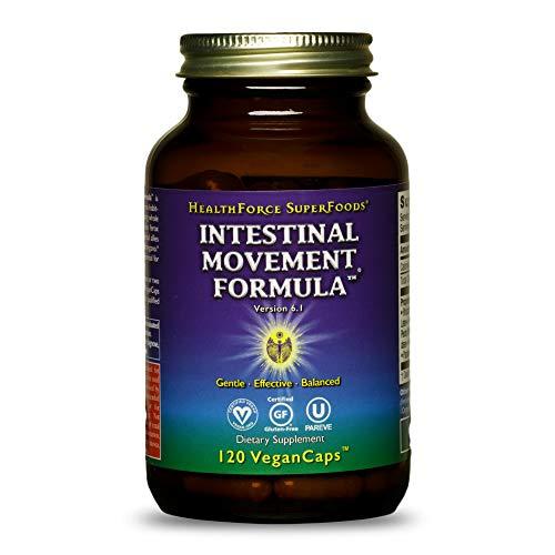 HealthForce SuperFoods Intestinal Movement Formula - 120 VeganCaps - All-Natural Herbal Laxative - Supports Bowel Regularity - Gluten Free - 120 Servings