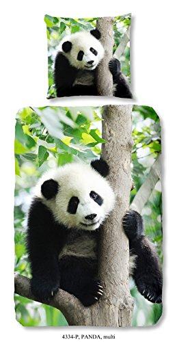 Good Morning Kids, Panda Parure de lit, Parure de lit Enfant Panda, 135 x 200 cm