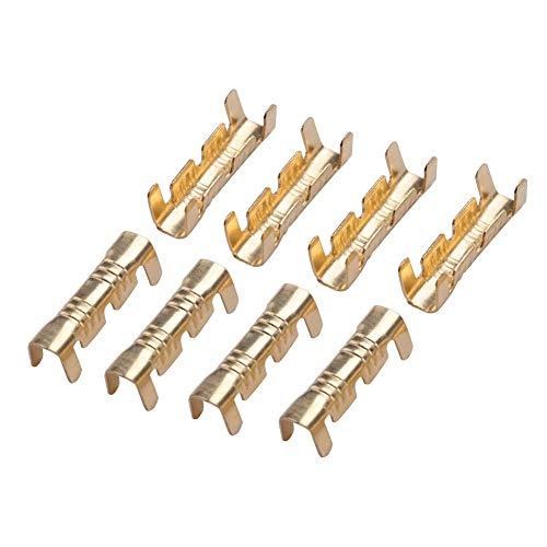 Terminal de crimpado de latón 100 piezas 0,5-1,5mm conectores de acoplamiento de alambre en forma de U cuadrados Terminal de conector de prensa de línea de hebilla de latón