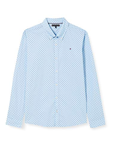 Tommy Hilfiger Jungen Mini Flag Shirt L/s Hemd, Cali Blue, 86