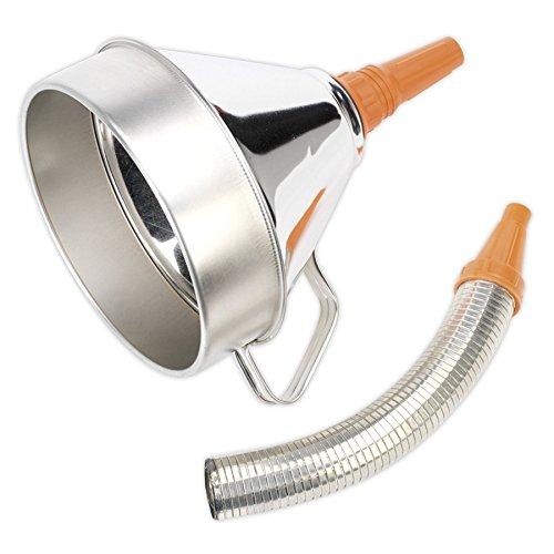 Sealey FM20F Ø200mm metalen trechter met flexibele tuit & filter