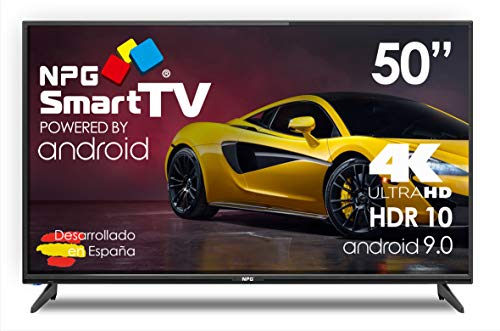 "TV LED 50"" 4K UHD NPG Smart TV Android 9.0 HDR10 + Smart Control QWERTY/Motion"