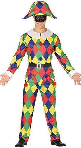 Fiestas Guirca Harlekin Mann Kostüm