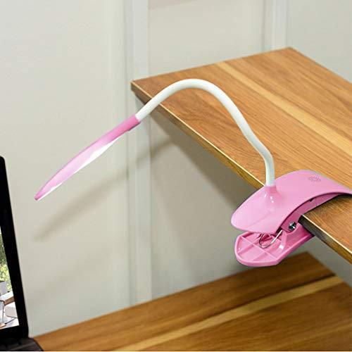 JINGDU 2 360 ° flexible cuello de cisne de alta calidad manguera USB Clip lámpara de escritorio protección ocular luz LED para aprendizaje y lectura, lámpara de mesa pequeña
