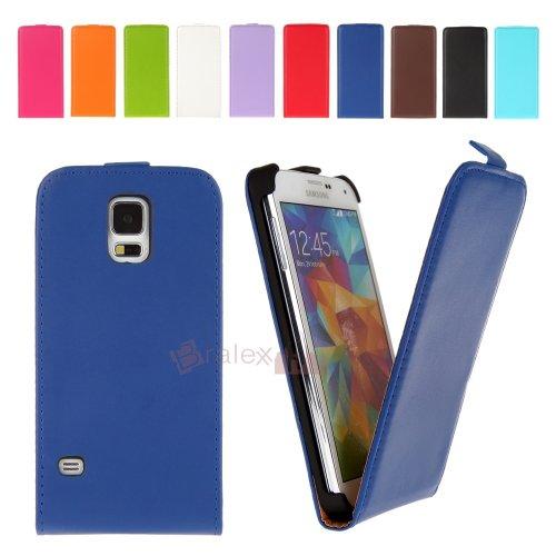 BRALEXX Flip Tasche für Samsung Galaxy S5 Mini G800F blau