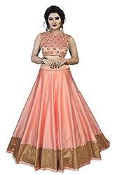 Orangesell Womens Banglori satin semi stitch lehenga choli (Pink_Free Size)