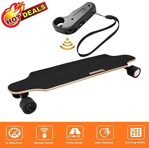 Oppikle Elektrisches Skateboard Longboard E Skateboard Elektrisches City Scooter Elektrolongboard mit Fernbedienung und Motor - Reichweite Ca 10 km - Geschwindigkeit 20km/h*