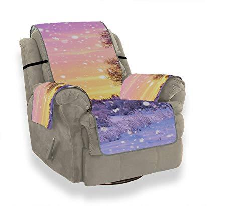 JEOLVP Winter Frosty Snow Forest Landscape Rückenkissen Sofa Schonbezug Sessel Sofa Rückenkissen Möbel Beschützer Für Haustiere, Kinder, Katzen, Sofa