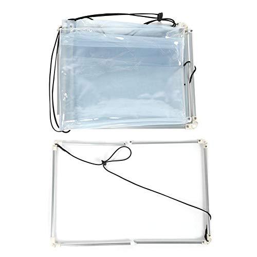 Qiterr Cubierta de Lavado, Herramienta de Limpieza de Cubierta de Limpieza de Aire Acondicionado de plástico de PVC de 1 Pieza(Closed)