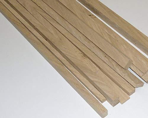 Sonder: 10 Bastelleisten Vierkantstäbe Eiche 1 Meter lang, sägerau, Maße: 2 x 20 x 100 und 4 x 20 x 100 jeweils 5 Stück