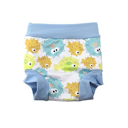 BabyPreg Baby Kinder Schwimmhöschen Abdeckung Glückliche Windel Bauchschutz-Badeshorts mit hoher Taille (Hellblau, 3-5 Jahre)