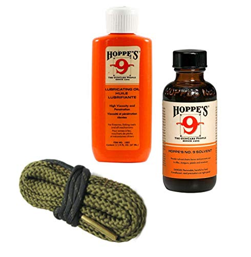 9mm Quality Gun Cleaning Bore Snake, Hoppes No. 9 Bore...