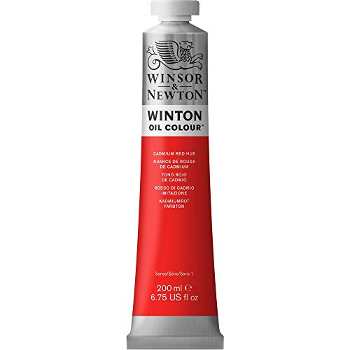 Winsor & Newton Winton Oil Color Paint, 200-ml Tube, Cadmium Red Hue
