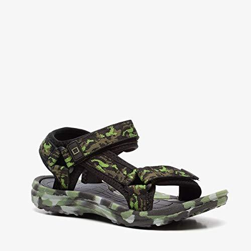 Blue Box jongens sandalen met camouflageprint - Groen