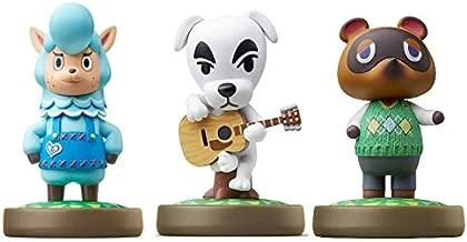 Cyrus - K.K. - Nook Amiibo (Animal Crossing Series) for Nintendo Switch - WiiU, 3DS -3Pack (Bulk Packaging)