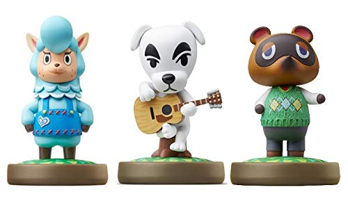 Cyrus - K.K. - Nook Amiibo (Animal Crossing Series) for Nintendo Switch - WiiU, 3DS -3Pack (Bulk Packaging)