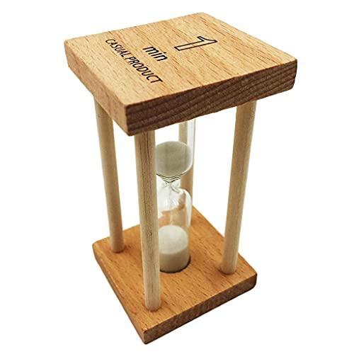 USNASLM Contador de reloj de arena de cristal de arena transparente con temporizador de reloj de 1 minutos cuenta en la herramienta de cepillado de los niños