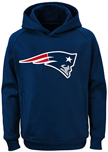 NFL Youth Team Color Performance Primary Logo Pullover Sweatshirt Hoodie (Large 14/16, New England Patriots) (New England Patriots Hoody)