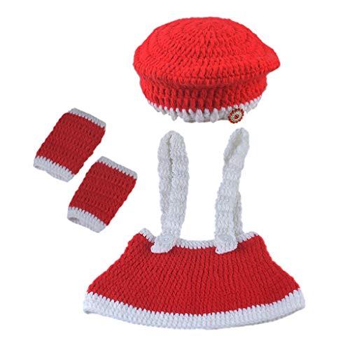 N/A. Gorro de Navidad para bebé recién nacido, accesorio de fotografía para interiores y exteriores, para niñas de 0 a 3 meses