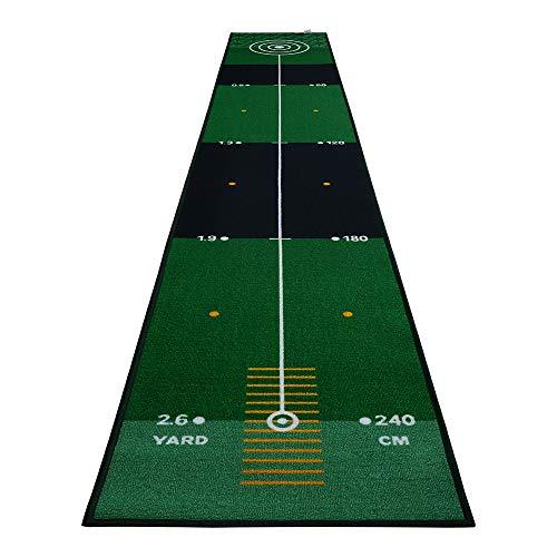 YX-lle Home Golf Puttingmatten Golf Übungsmatte Golf Matte Nylon Putting Green Matte Innen Extra lang 3M zum Zuhause Büro Garten (300 x 50 cm)