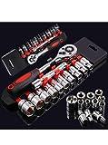 D FASHION HUB 12 in 1 Tool KIT Socket Set 1/2 Chrome Vanadium Combination Socket Wrench Set with Ratchet Spanner Car Repair Tool Set
