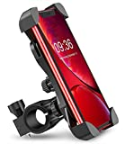 FINIVIVA Universal Bike Mount CellPhone Fixer Mobile Holder Stand Accessories for Bicycle and Two Wheeler Handle - Ideal for GPS Maps, Navigation, Charging (Black)