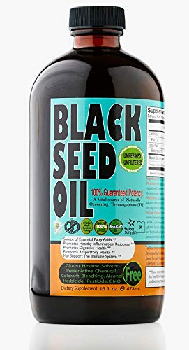 MILD Black Seed Oil Liquid - 2.26%+ Thymoquinone Pungent Flavor Cold Pressed Source of Omega 3 6 9 Black Cumin Seed Oil from 100% Genuine Nigella Sativa - 16 Ounce Glass Bottle by Sweet Sunnah