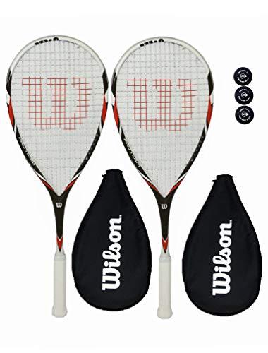Wilson Pro Team Raquetas Squash + Funda + 3 Pelotas De Squash-2 Piezas