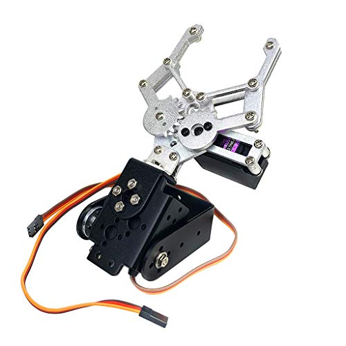 Fityle Smart Robot Car 2-Dof Robot Servo Mechanical Manipulator Arm Claw for Arduino Robotics Learning Kits
