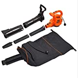 BLACK+DECKER 3-in-1 Electric Leaf Blower, Leaf Vacuum, Mulcher (BEBL7000)