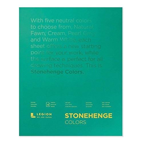 Legion Stonehenge Multicolor Pad, 11 X 14 inches, 15 Sheets