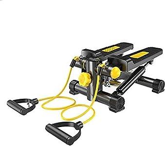ZZTX Salud E IDONEIDAD Mini Stepper Máquina giratoria de Altura Regulable, Equipo de Ejercicio con báscula, con Pantalla LCD y Banda de Resistencia