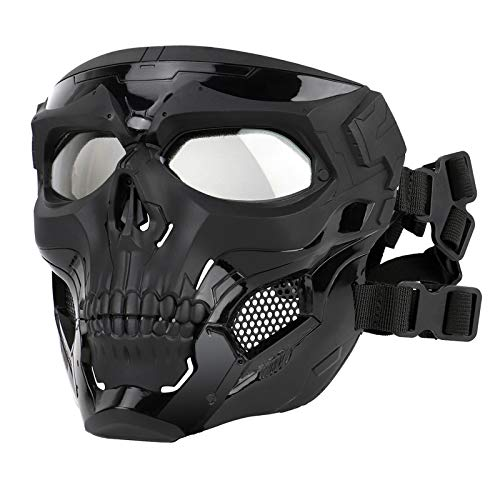 Skull Airsoft Paintball Mask, Full Face Tactical...