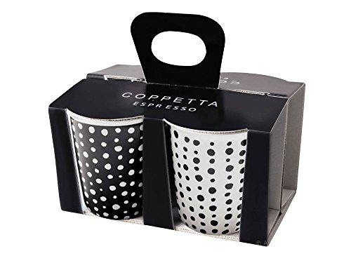ASA Coppetta Espressobecher, Keramik, Weiß/Schwarz, 6.5 cm, 4-Einheiten