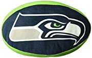 """Features NFL team logo 3D travel cloud pillow; extremely soft, super stretchy, and ultra-comfortable Measures 15""""L x 2""""D Spot clean only Made of 94% Polyester & 6% Spandex; 100% Polyester fill"""