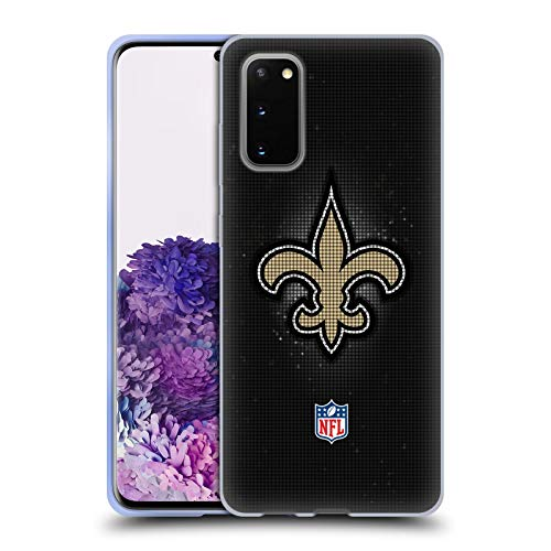 Head Case Designs Offizielle NFL LED 2017/18 New Orleans Saints Soft Gel Huelle kompatibel mit Samsung Galaxy S20 / S20 5G