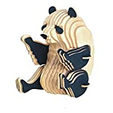 Pulabo Panda 3D - Rompecabezas de madera con diseño de panda, juguete de construcción Montessori, juguete de aprendizaje para niños y niñas, útil y práctico divertido
