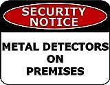 2 unidades de estante superior novedades aviso de seguridad detectores de metales en las instalaciones señal de seguridad sp2375